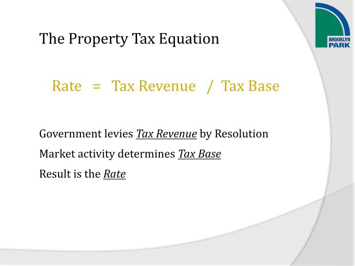 The Property Tax Equation