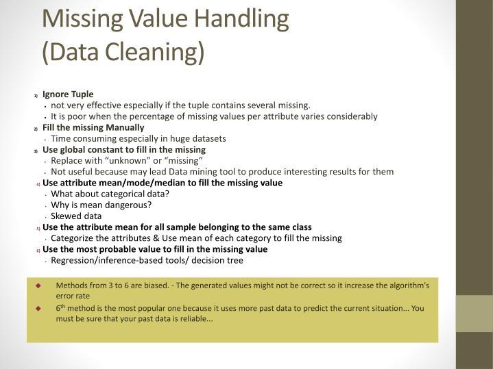 Missing Value Handling