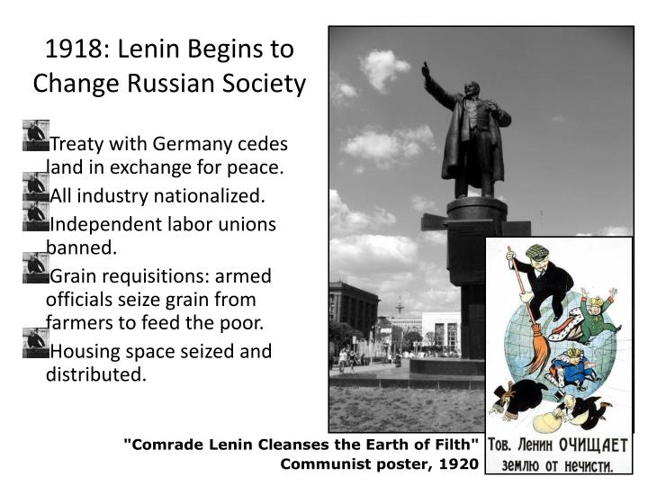 1918: Lenin Begins to Change Russian Society