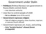 government under stalin