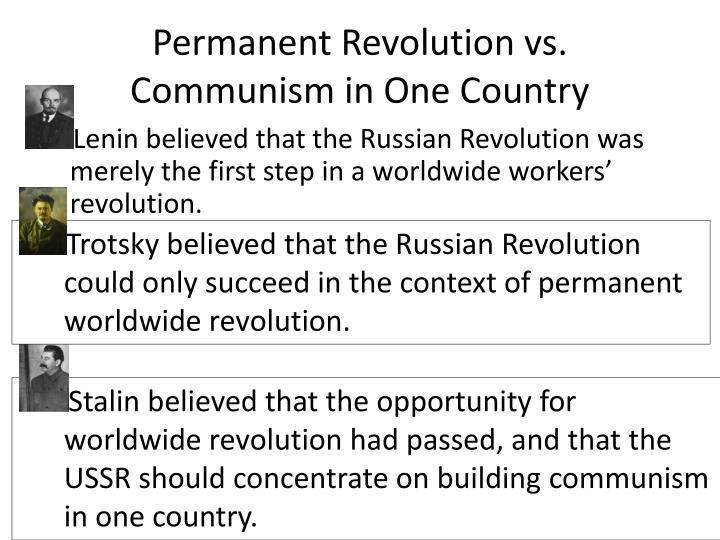 Permanent Revolution vs.