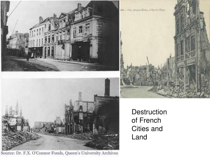 Destruction of French Cities and Land