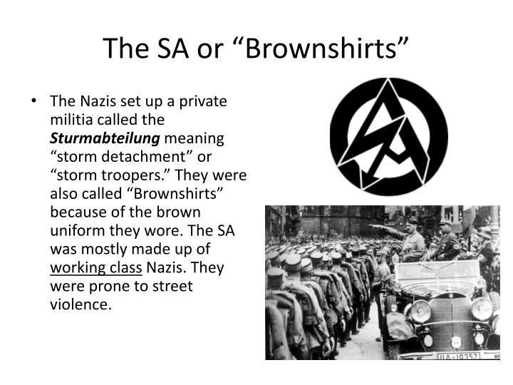 """The SA or """"Brownshirts"""""""