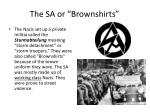 the sa or brownshirts