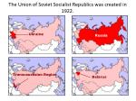 the union of soviet socialist republics was created in 1922