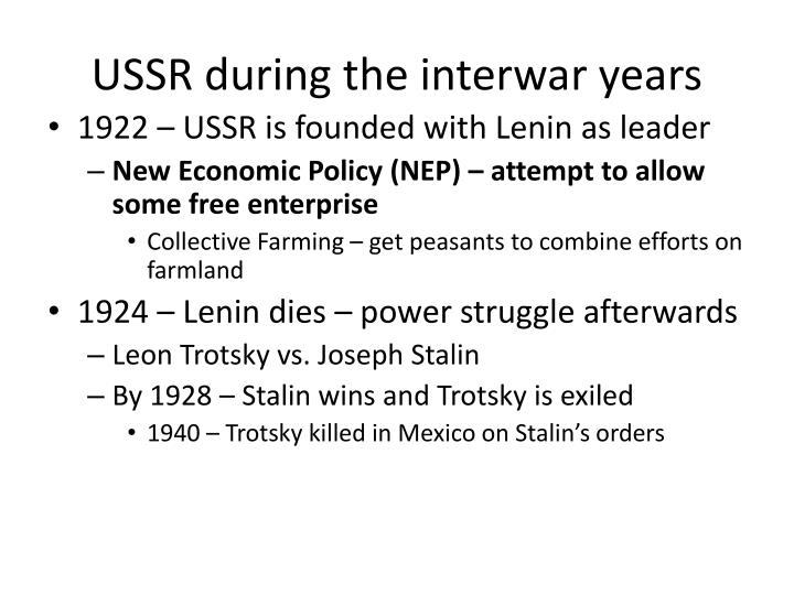USSR during the interwar years