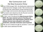war communism and the new economic policy