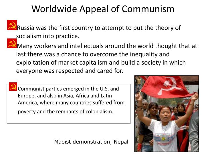 Worldwide Appeal of Communism