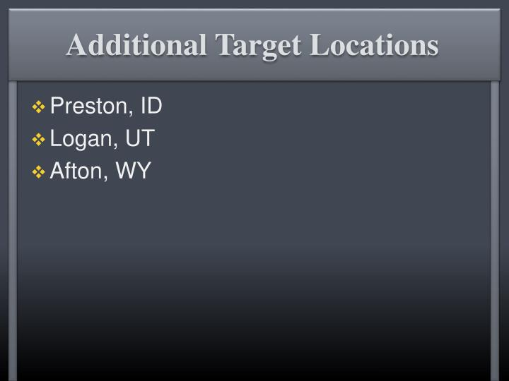 Additional Target Locations