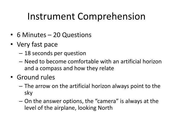 Instrument Comprehension