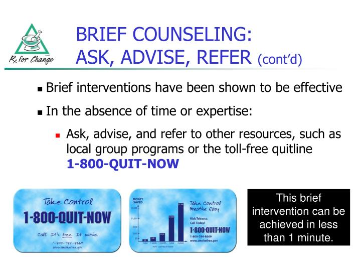 BRIEF COUNSELING: