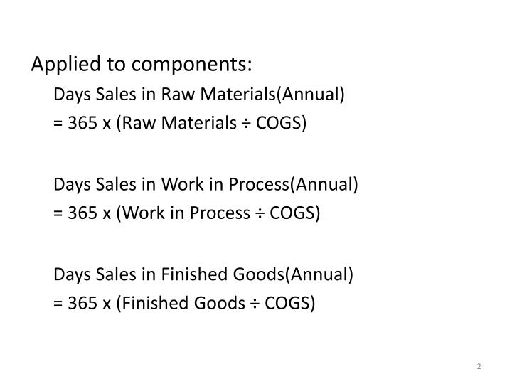 Applied to components:
