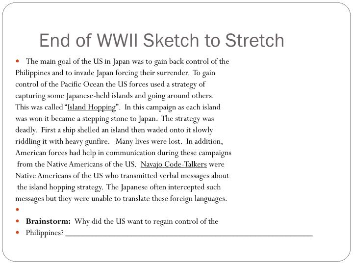 End of wwii sketch to stretch1
