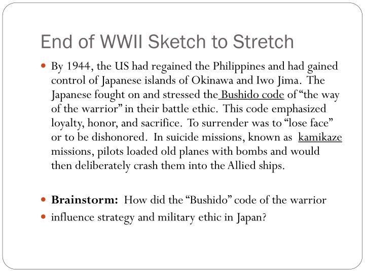 End of WWII Sketch to Stretch