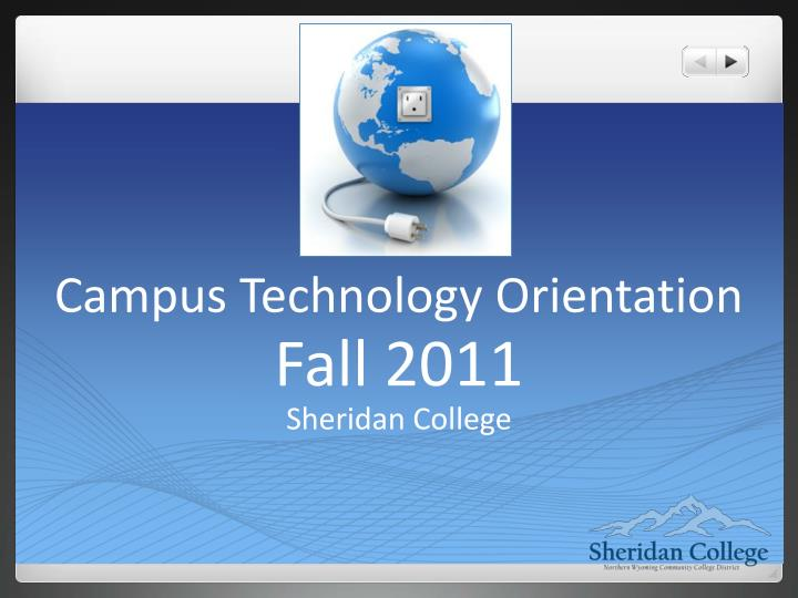 campus technology orientation