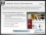 using the library s online resources