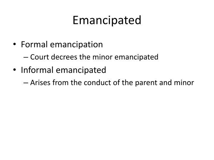 Emancipated