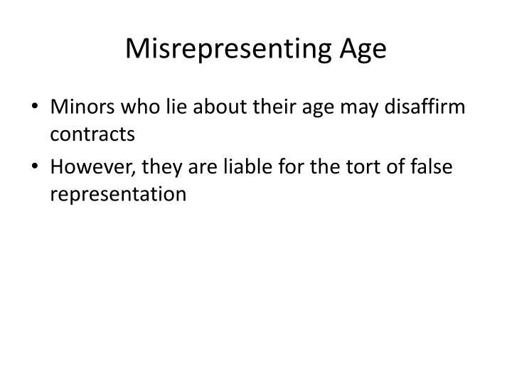 Misrepresenting Age