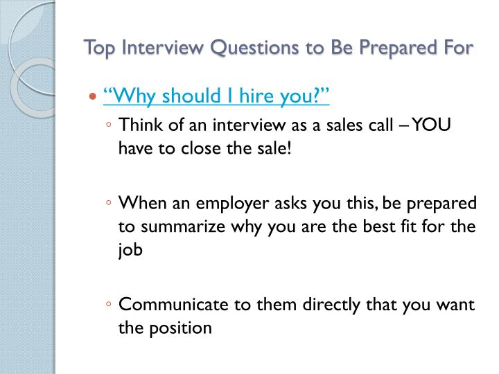 Top Interview Questions to Be Prepared For