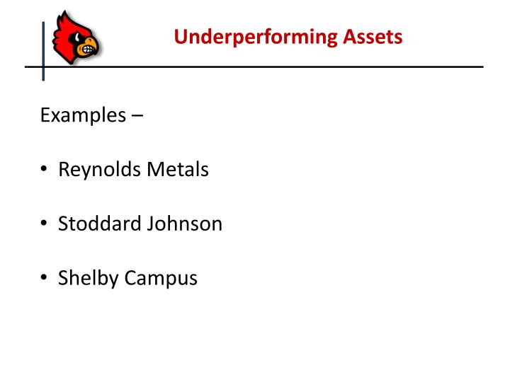 Underperforming Assets