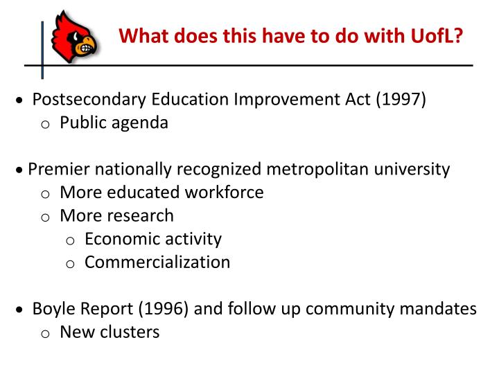 What does this have to do with UofL?