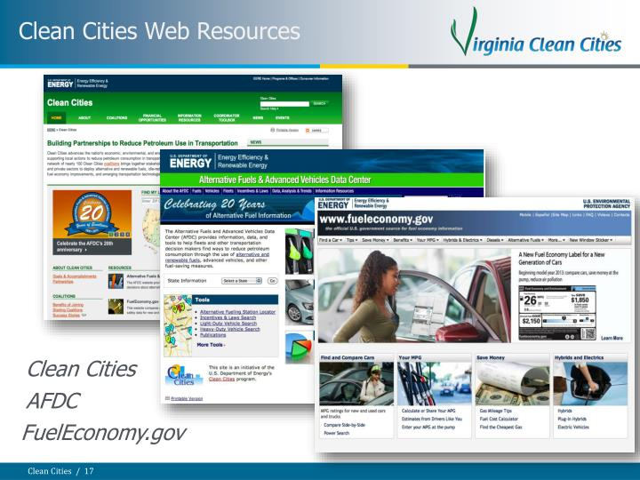 Clean Cities Web Resources