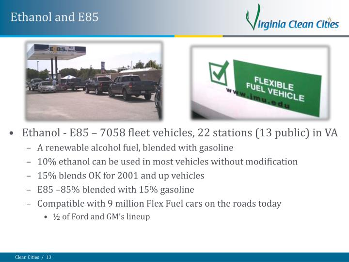 Ethanol and E85