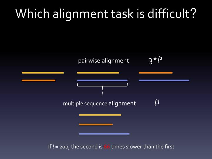 Which alignment task is difficult