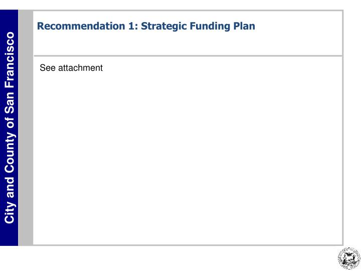 Recommendation 1: Strategic Funding Plan