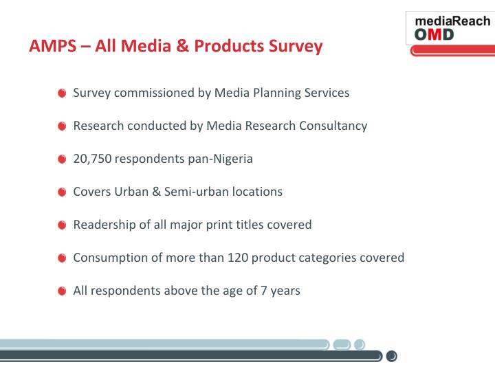 AMPS – All Media & Products Survey