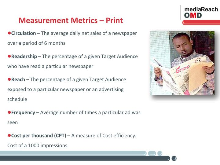 Measurement Metrics – Print