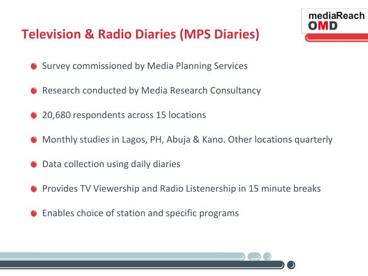 Television & Radio Diaries (MPS Diaries)