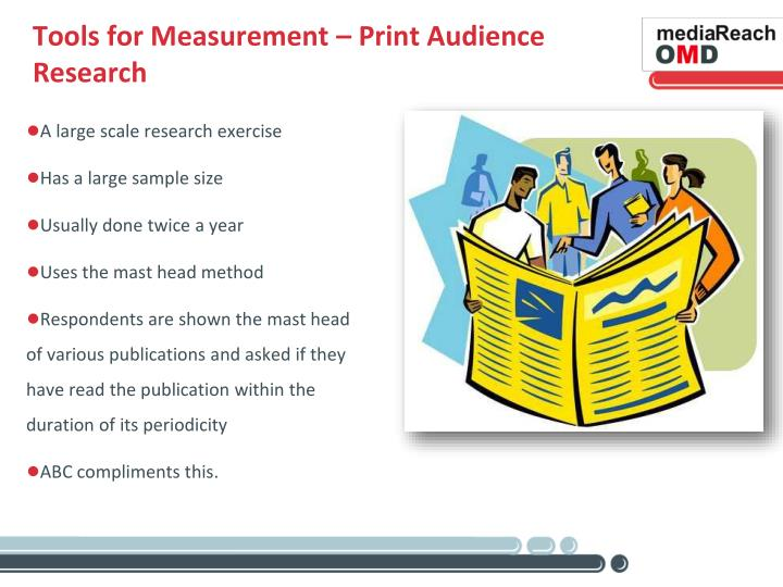 Tools for Measurement – Print Audience Research