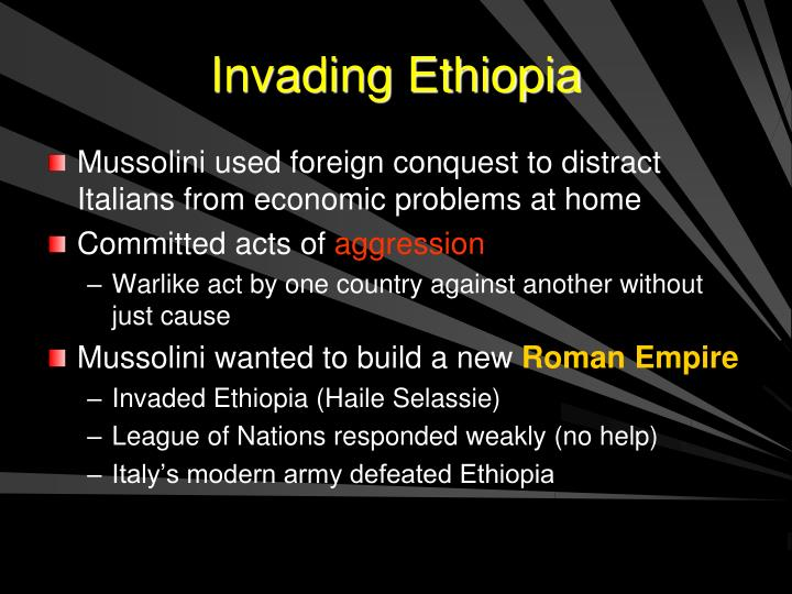 Invading Ethiopia