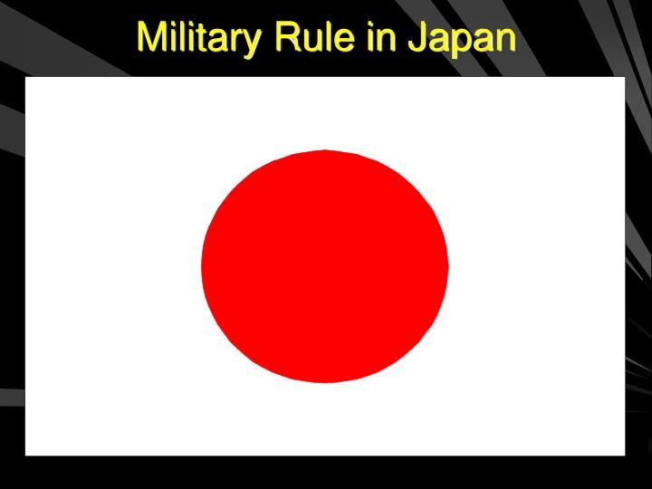 Military Rule in Japan