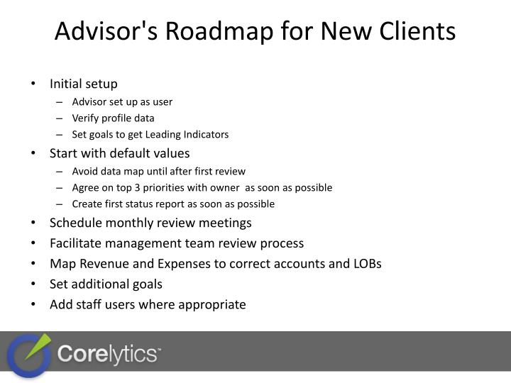 Advisor's Roadmap for New Clients