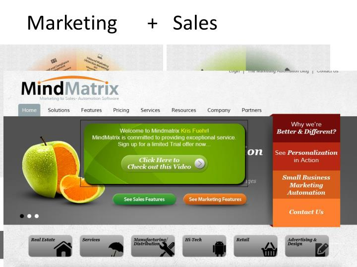 Marketing      +   Sales