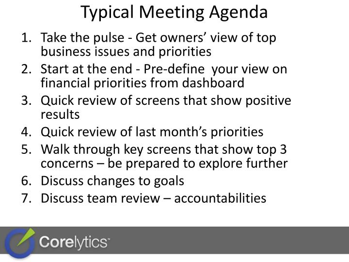Typical Meeting Agenda