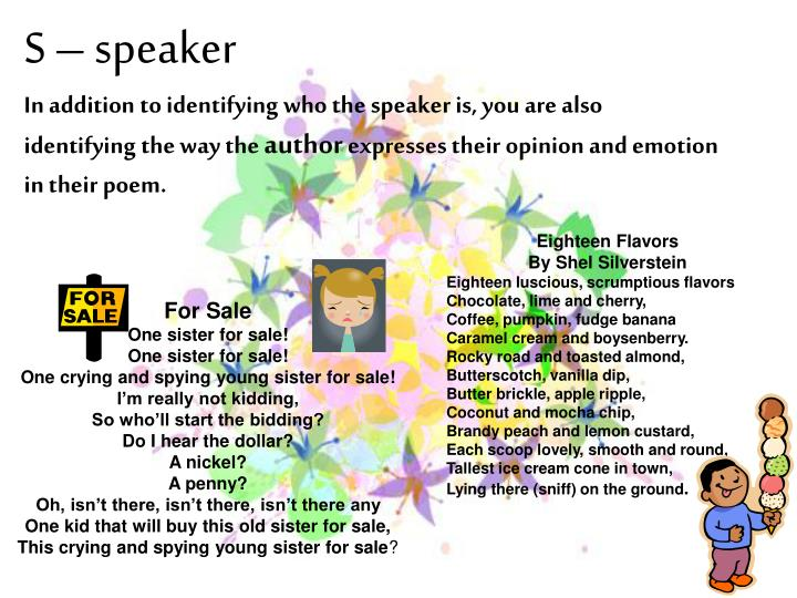 S – speaker