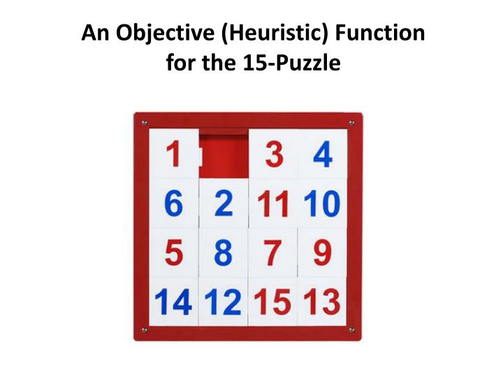 An Objective (Heuristic) Function