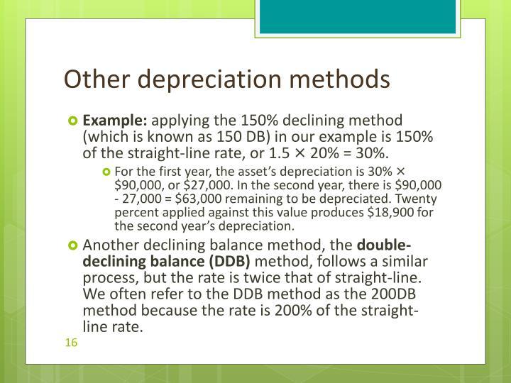 Other depreciation methods