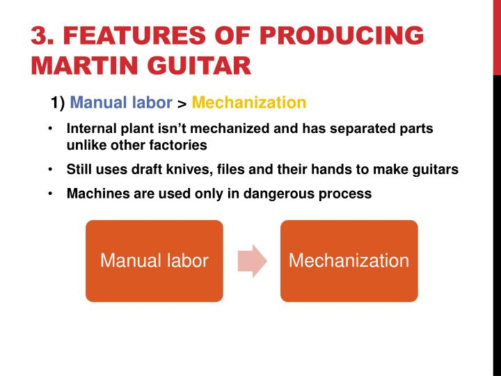 3. Features of producing martin guitar