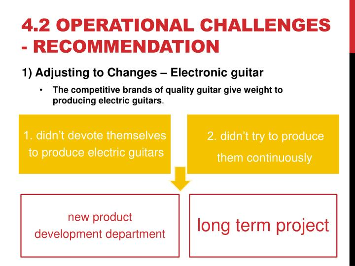 4.2 operational challenges - recommendation