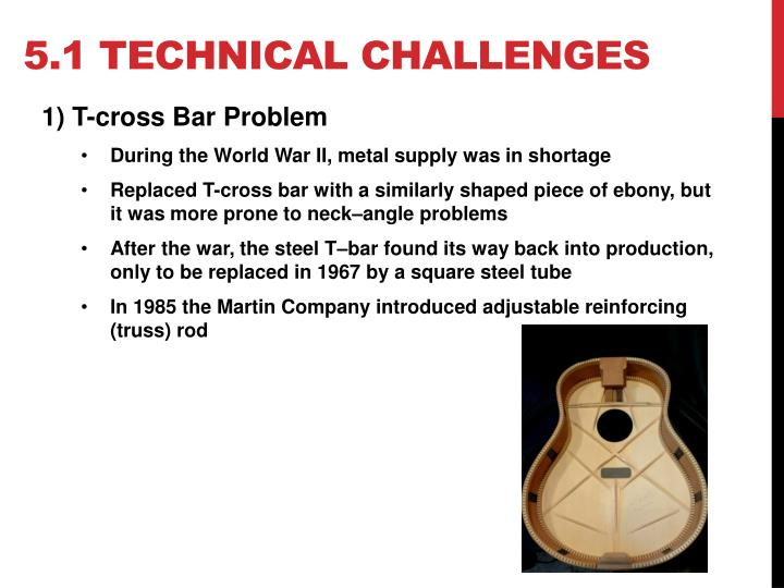 5.1 Technical challenges
