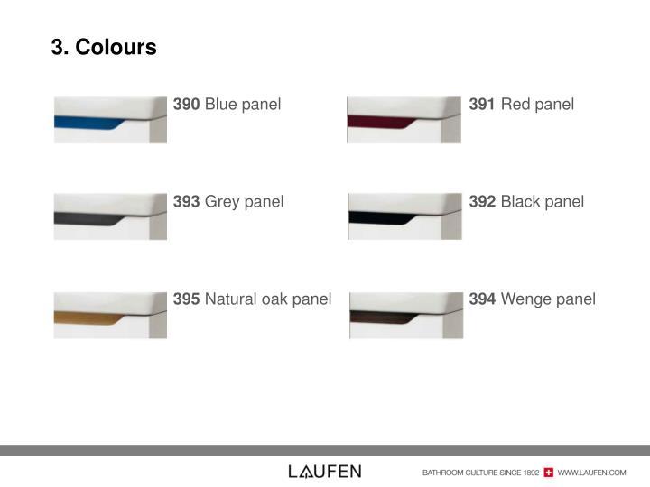 3. Colours