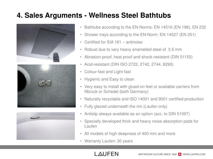4. Sales Arguments - Wellness Steel