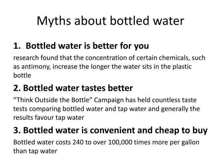 Myths about bottled water