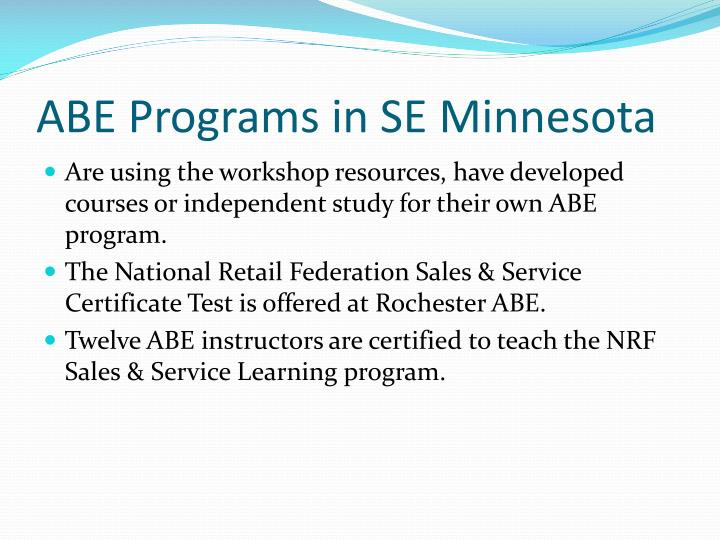 ABE Programs in SE Minnesota
