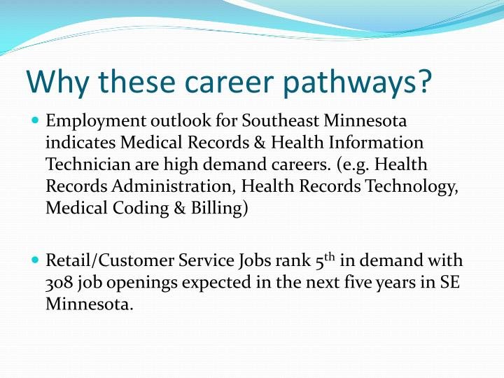Why these career pathways?