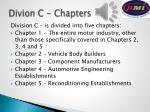 divion c chapters